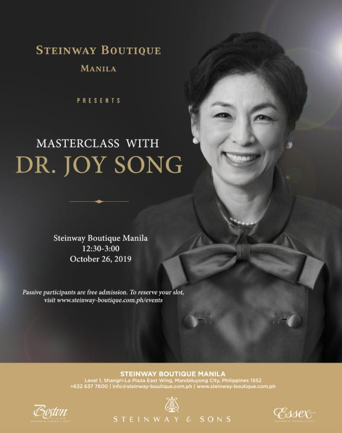 Masterclass with Dr. Joy Song